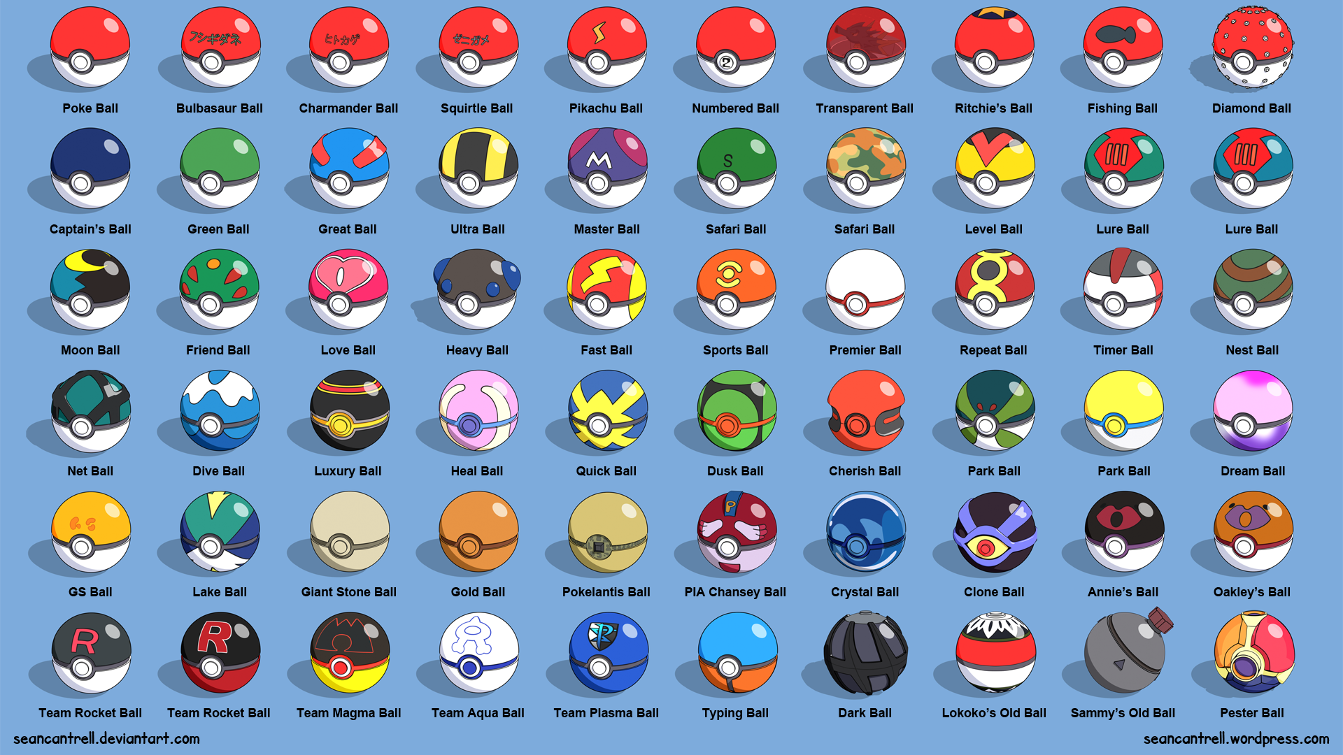 Each Pics And Pokemon Names