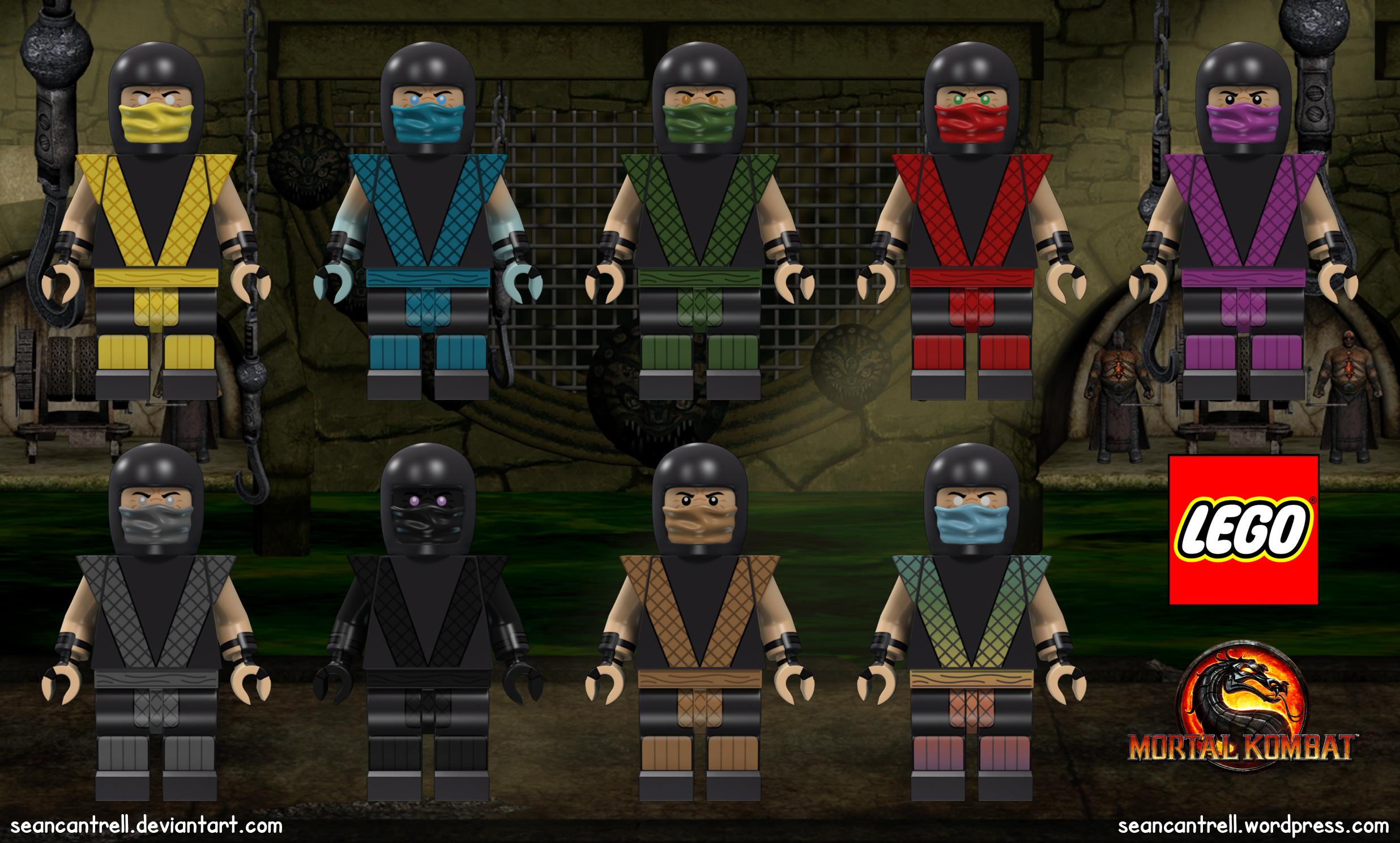 Lego Mortal Kombat Minifigures – Male Ninja | Sean Cantrell