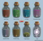 Skyward Sword – Bottles
